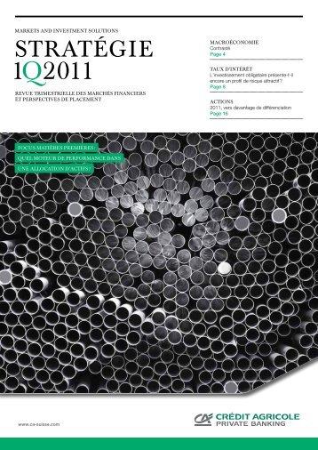 1Q2011 - Crédit Agricole Suisse