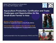 Aquaculture Production, Certification and Trade ... - Library