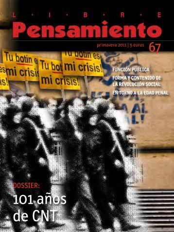 Descargar Libre Pensamiento 67 - primavera 2011 ... - Rojo y Negro