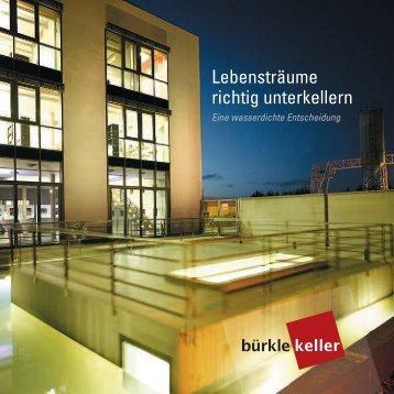 Fertigkeller Klappflyer - Betonwerk Bürkle GmbH & Co.KG