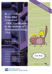 - DISC Certification by the Institute of Motivational Living, USA