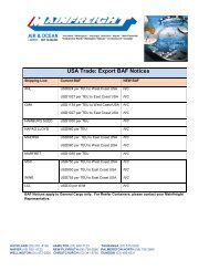 USA Trade: Export BAF Notices - Mainfreight