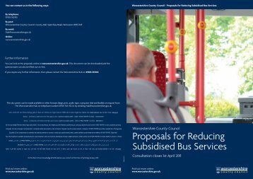 Proposals for Reducing Subsidised Bus Services - Pershore High ...