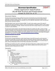 MXF Application Specification for Archiving and Preservation ...