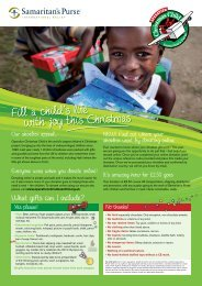 Download the Operation Christmas Child Leaflet