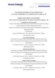 ENGENHARIA DO PRODUTO PARA EXPORTAÇÃO: O ... - UTFPR
