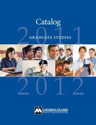 Catalog - University of Mary