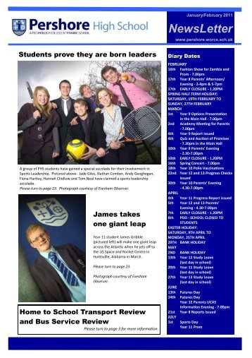 1) NEWSLETTER JANFEB - Pershore High School