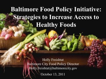 Baltimore Food Policy Initiative - Maryland Hunger Solutions