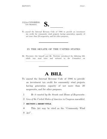 A BILL - Senator Al Franken