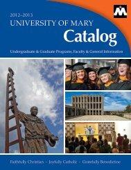 University of Mary Catalog