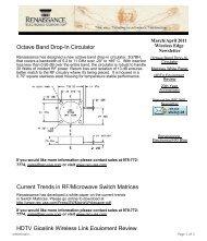 March/April 2011 Newsletter - Renaissance Electronics Corporation
