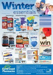 Make sure you don't miss out on the extra ... - Coral Coast Pharmacies