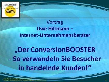 Der ConversionBooster - Sternstunde für Unternehmer