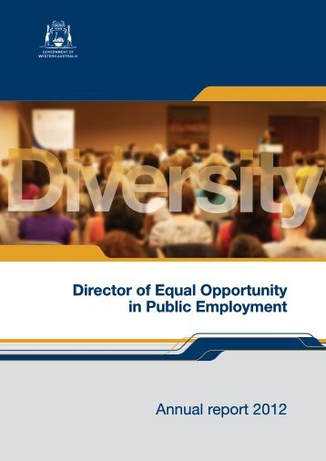 Director of Equal Opportunity in Public Employment Annual report ...