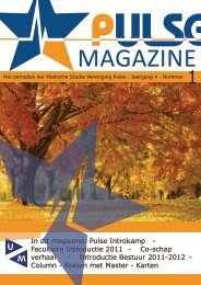 Pulse Magazine: 2011-2012 - Uitgave 01 - MSV Pulse