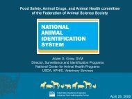 Animal Identification Issues - Federation of Animal Science Societies