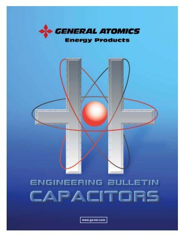 Capacitors - General Atomics Electronic Systems, Inc.