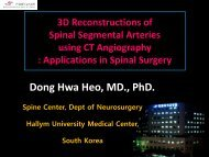 Segmental artery injury