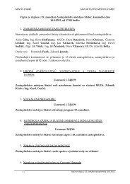 Výpis ze zápisu z 19. zasedání Zastupitelstva ... - Městys Stařeč