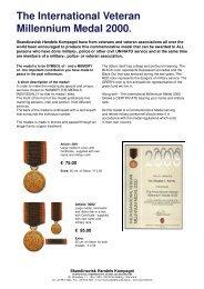 The International Veteran Millennium Medal 2000. - Skandinavisk ...
