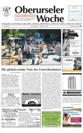 Ab dem 1. Oktober 2008 - Eine Welt Verein Oberursel