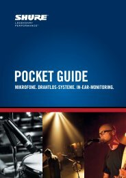 Shure - Pocket Guide - OSZ  Teltow
