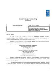 REQUEST FOR QUOTATION (RFQ) (Services) - UNDP