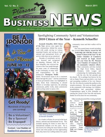 Vol. 12 No. 3 - Mt. Pleasant Area Chamber of Commerce