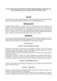 Codice deontologico - Ordine dei Geologi della Lombardia