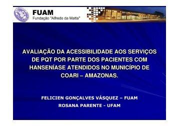 avaliação da acessibilidade aos serviços de pqt por parte ... - Epi2008