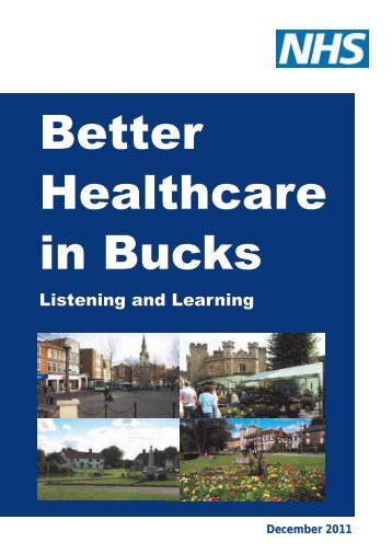 Better Healthcare in Bucks report - Response to Care Quality ...