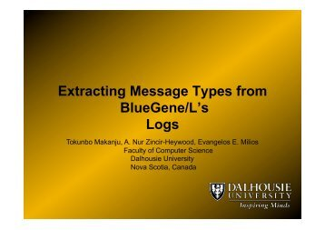 Extracting Message Types from BlueGene/L's Logs - Workshop on ...