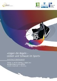 Rahmenprogramm - Fussball Kultur