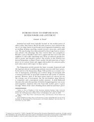 introduction to symposium on buyer power and antitrust - American ...