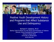 Positive Youth Development History and Programs that Affect ...
