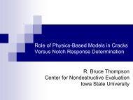 Cracks versus Notch - Center for Nondestructive Evaluation - Iowa ...