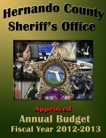 2012-2013 Approved Annual Budget - Hernando County Sheriff's ...