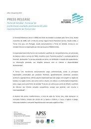 PRESS RELEASE - Porto de Setúbal