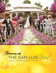 to view a sample of our wedding menus. - The San Luis