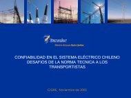 confiabilidad en el sistema eléctrico chileno desafios de la - Cigré