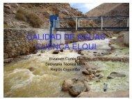 CALIDAD DE AGUAS CUENCA ELQUI - cazalac