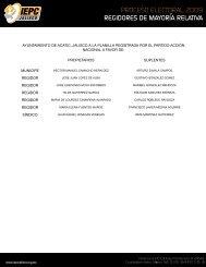 AYUNTAMIENTO DE AcATIc, JALIScO A LA PLANILLA ...