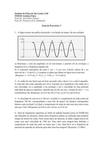 Lista Exercicios 1.pdf - USP