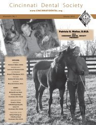 2012 Calendar of Events (continued) - Cincinnati Dental Society