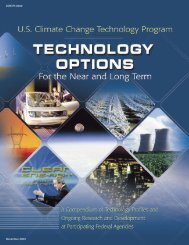 U.S. Climate Change Technology Program: Overview and Table of ...