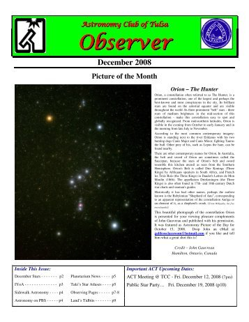 Dec - Astronomy Club of Tulsa