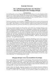 Das Sinn-Konzept in der Sozialpsychologie - Akademie für ...