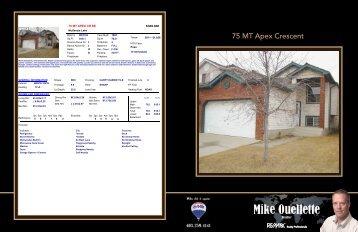 75 MT Apex Crescent - Mike Ouellette