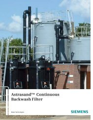 Astrasand Continuous Backwash Filter - Siemens Water Technologies